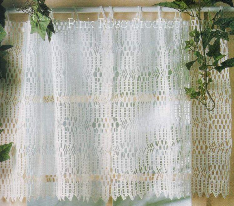 Delicadezas en crochet Gabriela: 10 Moldes de cortinas en crochet ...