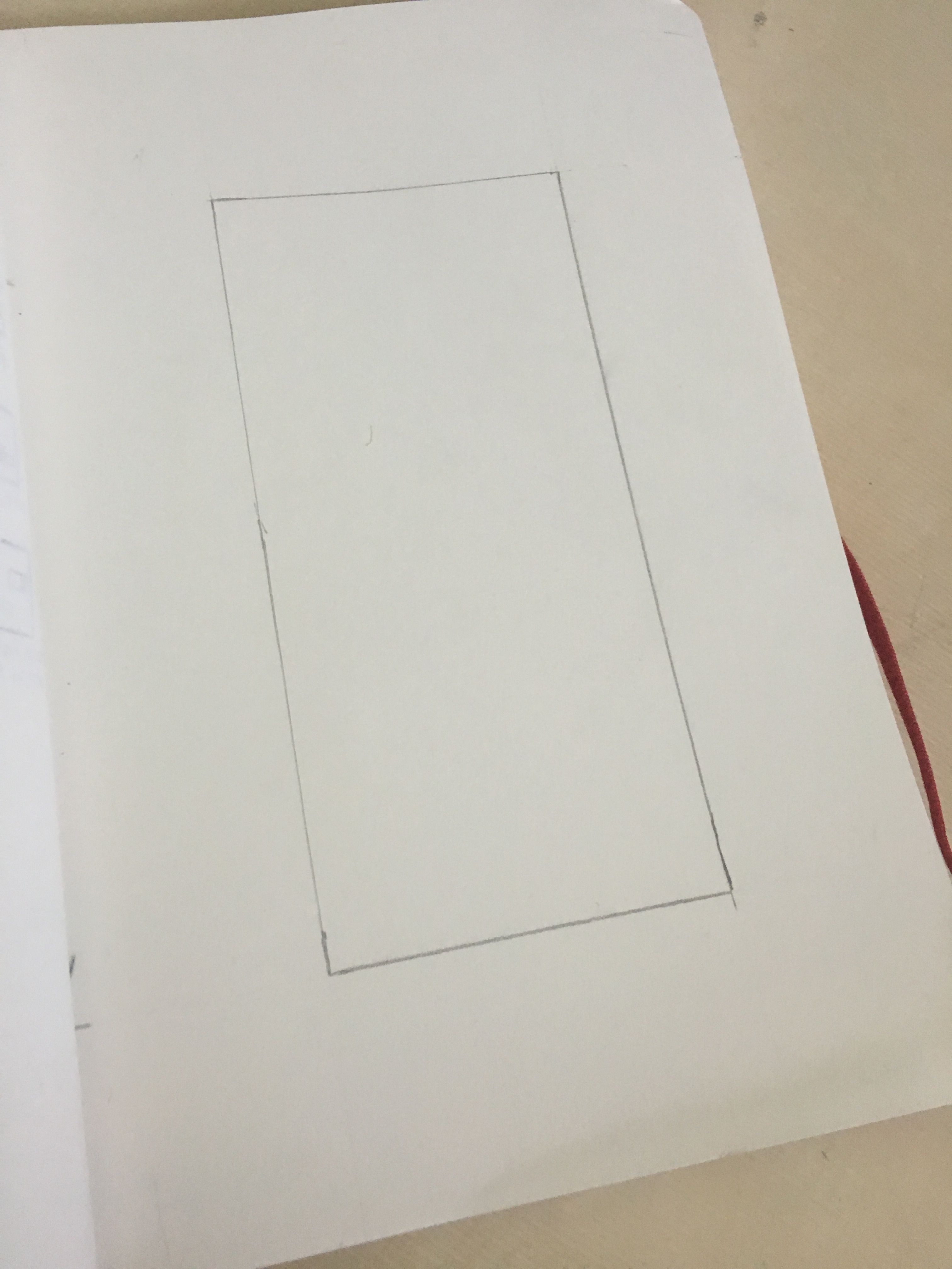 sketching a border before beginning to draw...(1)