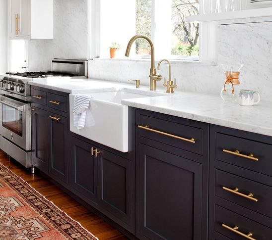 Black Kitchen Cabinets Brass Hardware: Pin By Caitlin Moore On Home Decor