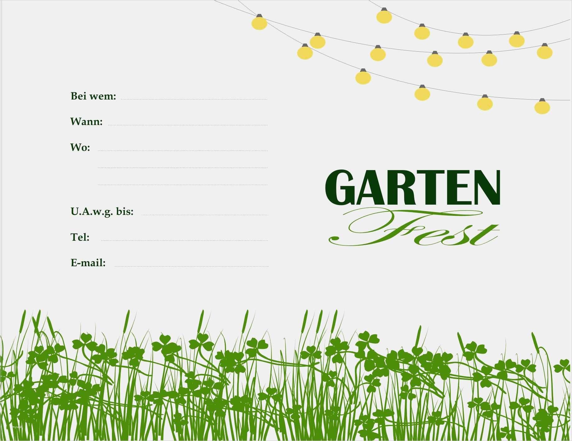 Gartenparty Einladung Vorlage Kostenlos Inspiration