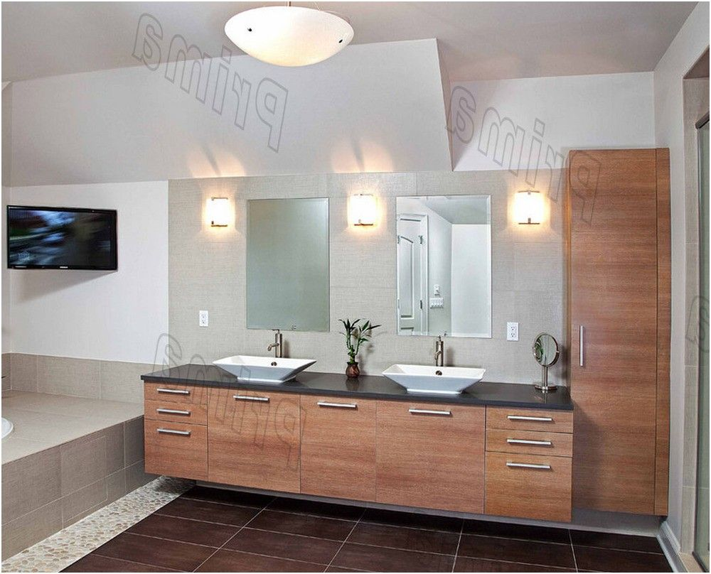 high quality solid wood bathroom cabinet glass wash basin pvc from ...