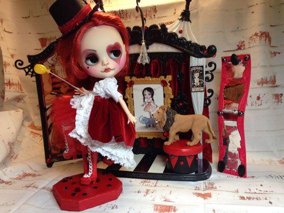 Custom Blythe MINNIE Circus Girl Blythe Doll by by sassygrace