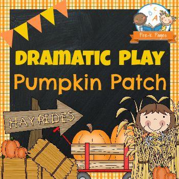 Dramatic Play Pumpkin Patch Printable Kit