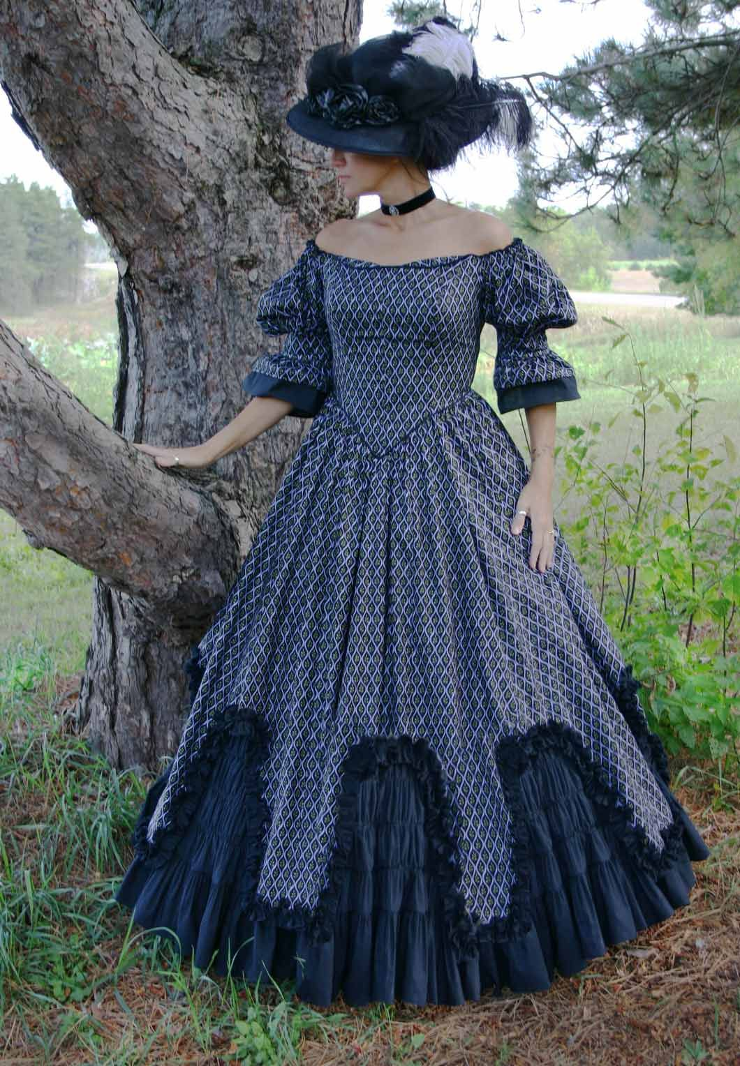 Victorian Ball Gown Victorian ball gowns, Southern belle