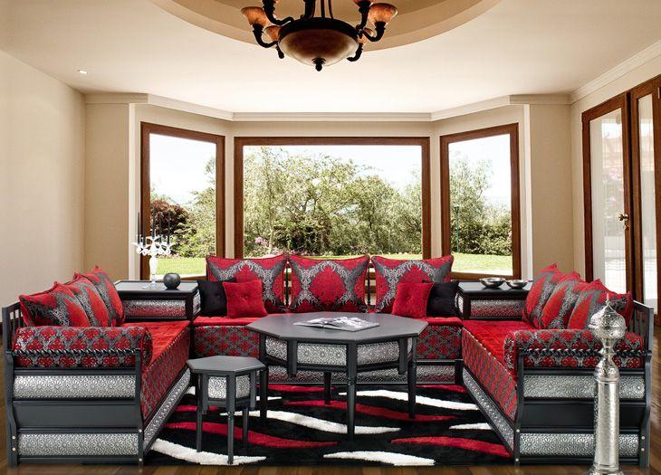 Salon traditionnel avec la touche moderne | salon marocain ...