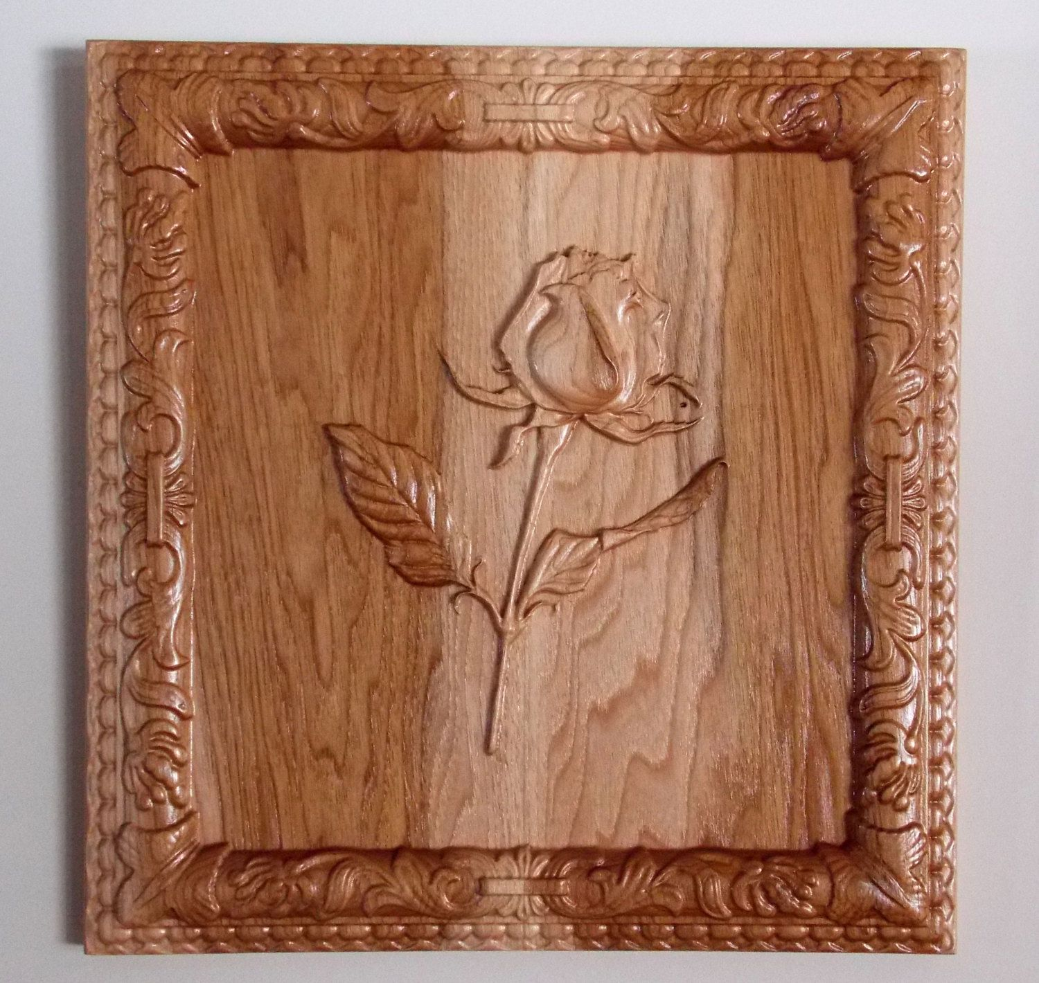 Long Stem Rose Rose Wall Art Rose Wood Rose Wall Decor