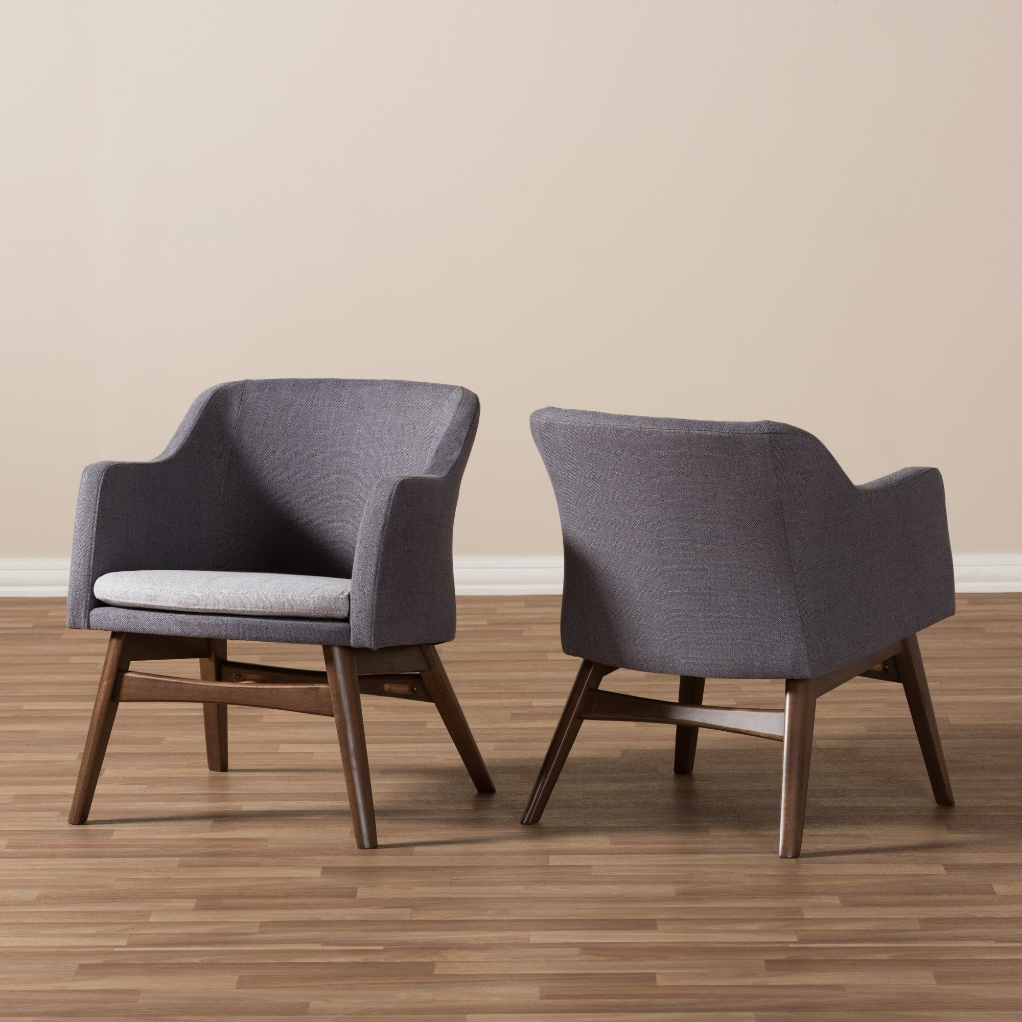 Best Mid Century Modern Two Tone Gray Accent Chair Set Of 2 400 x 300