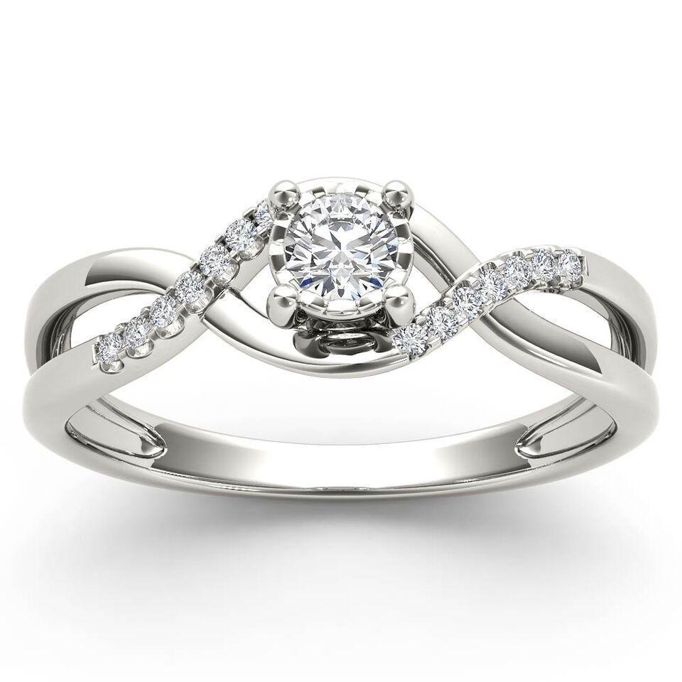 Gnzoe Silver Plated Women Wedding Ring Cross Criss Blue Silver