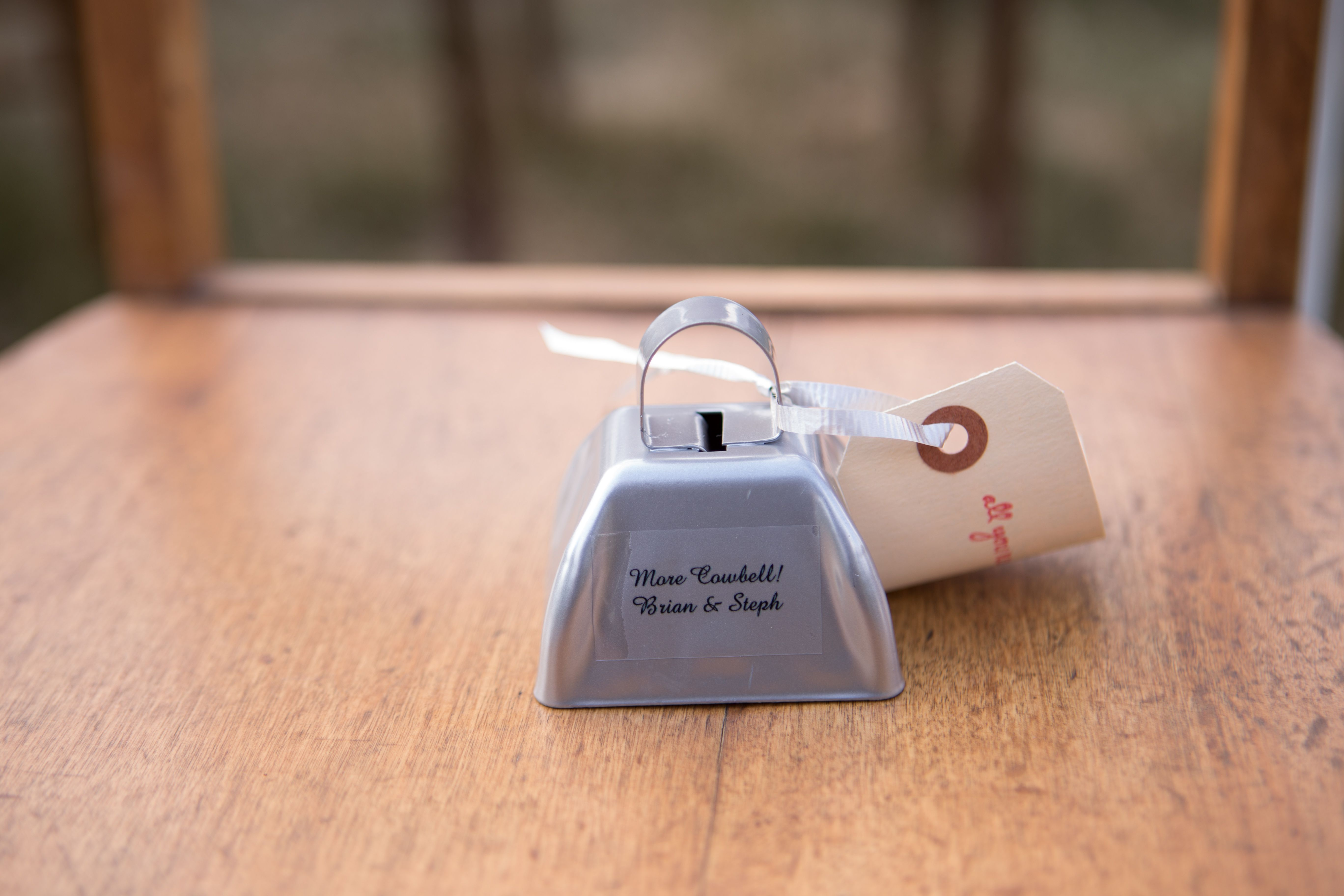 We Went With Cowbells As Favors On Each Of The Ceremony Chairs For