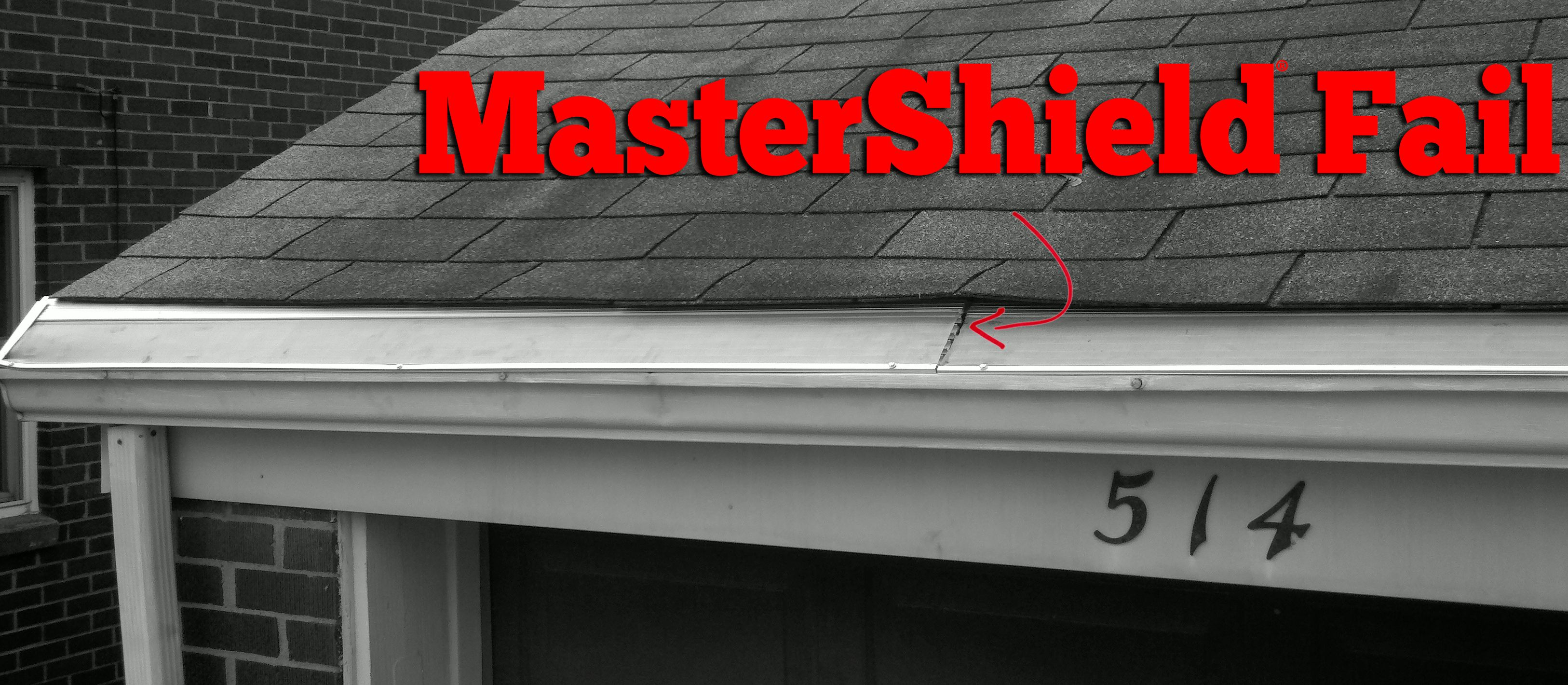 This Mastershield System Is Placed Under The First Layer Of Shingles On Your Roof As You Can See Not Only Are The Shing Gutter Protection Gutter Guard Gutter