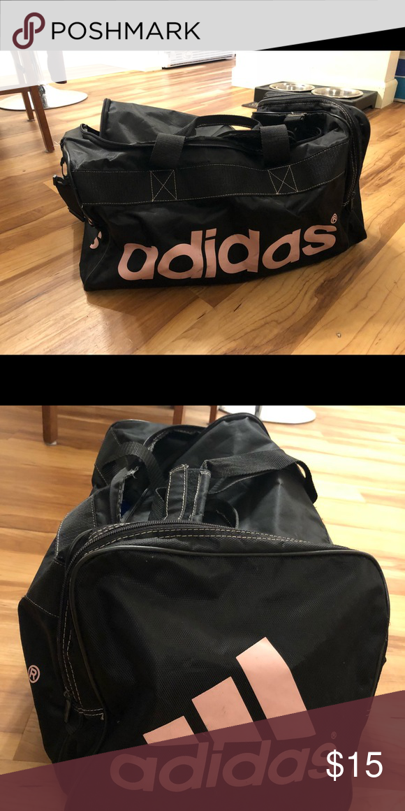 1015ca5c272 Adidas gym bag Black and pink adidas gym bag. Used condition adidas Bags  Travel Bags