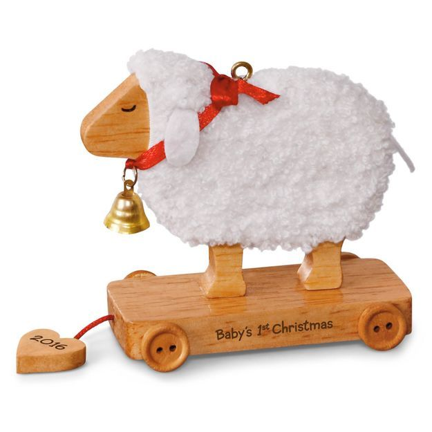 Little Lamb Baby's First Christmas Ornament