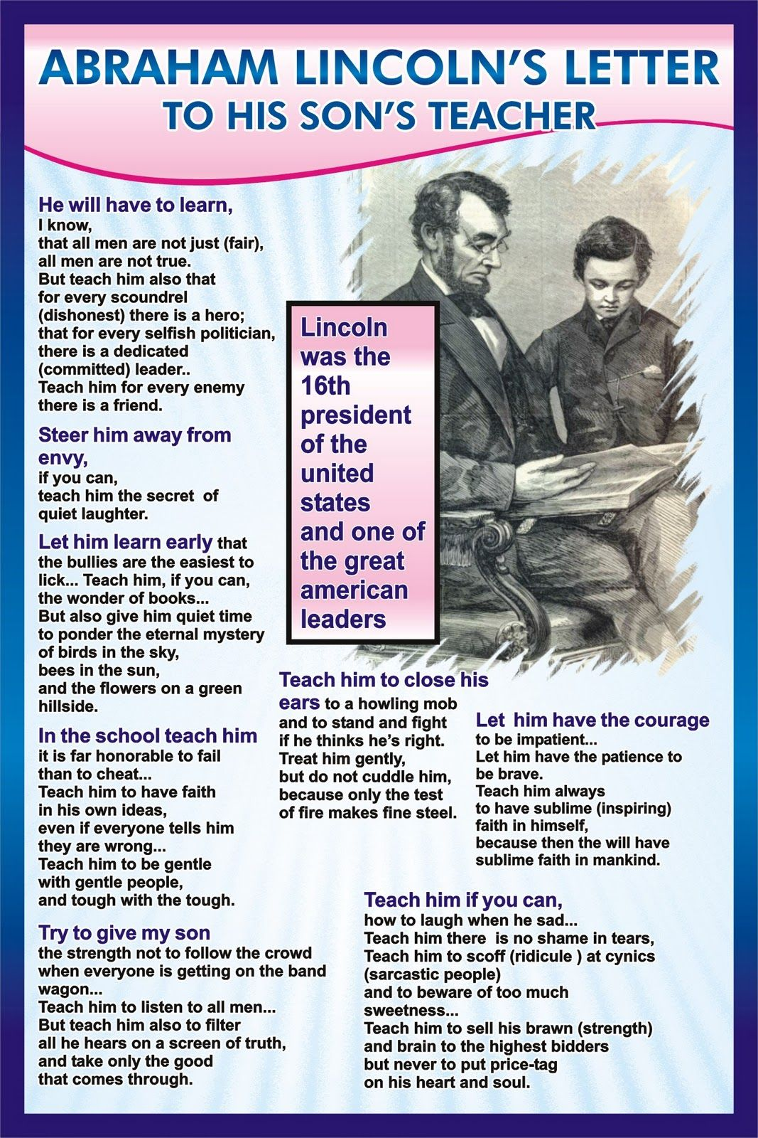 Abraham Lincoln's Letter to his Son's Teacher | quotes | Letter to