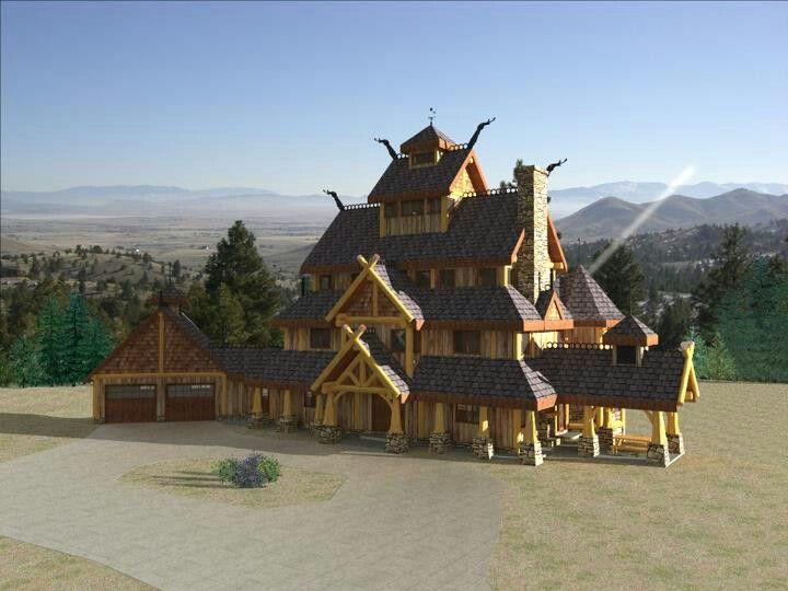 A big modern viking house