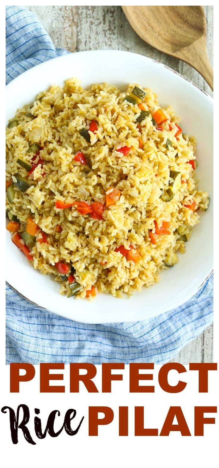 Perfect Rice Pilaf with Vegetables