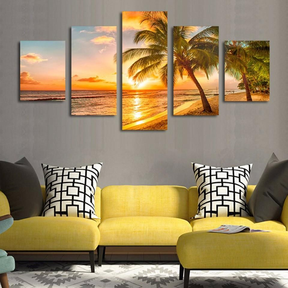 Buy this Palm Tree and Sunset canvas wall art today and we will ship ...