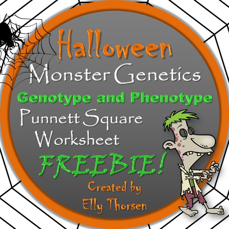 Halloween Genotype and Phenotype Square Worksheet
