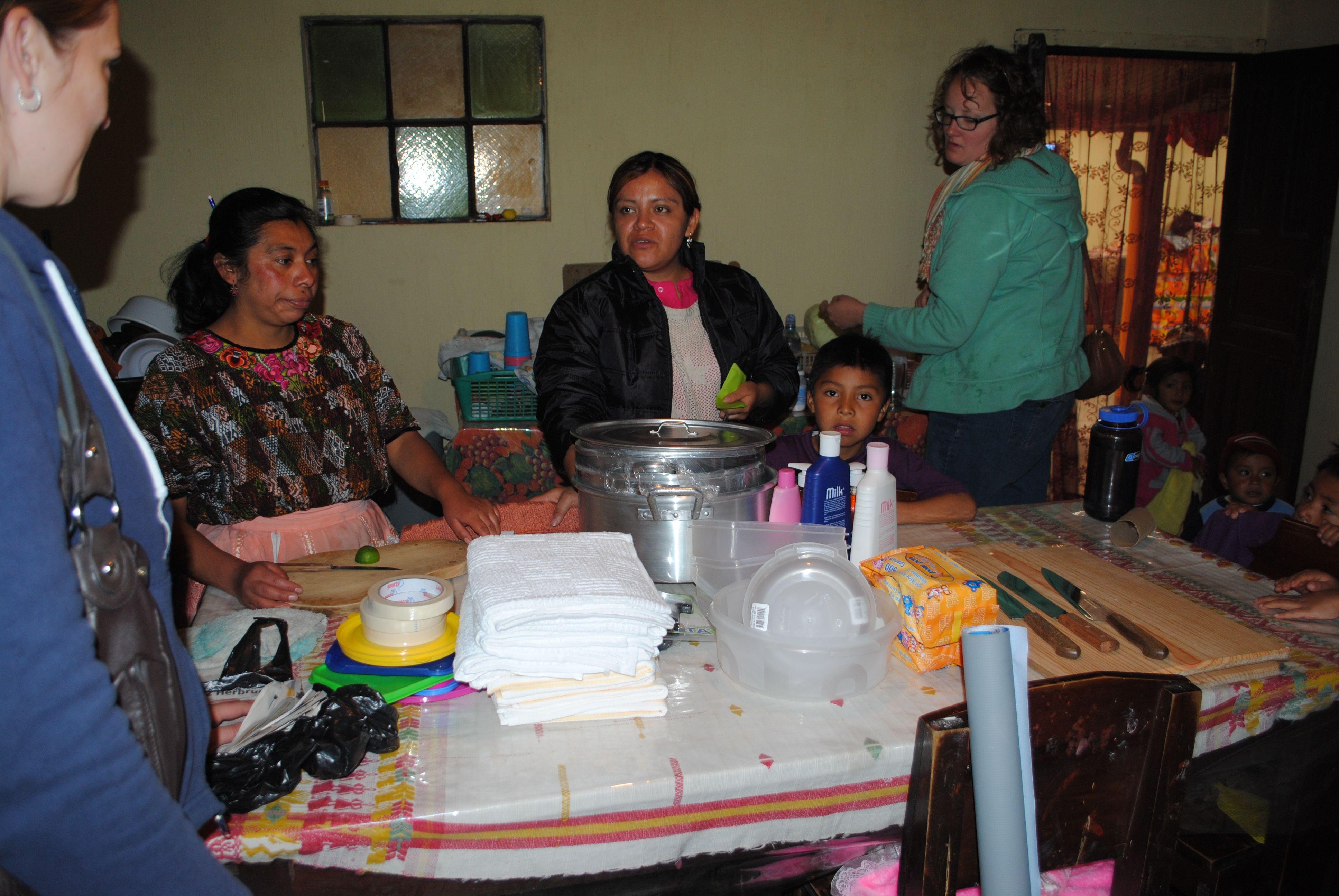 Abroaderview Donations For The Children Center Guatemala Quetzaltenango  March 2014 . Basic Kitchen Supplies, Pots
