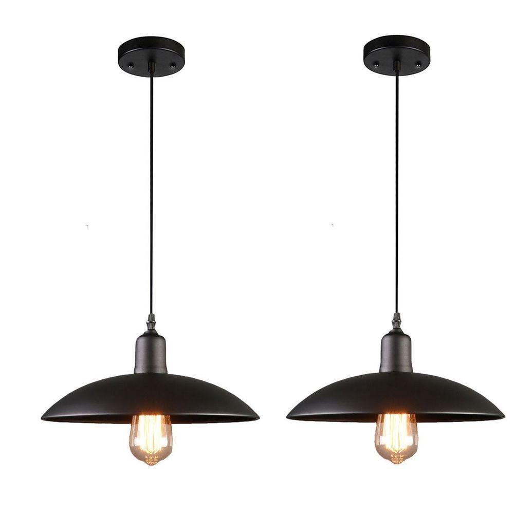 Ebay vintage hanging ceiling light fixture pendant black