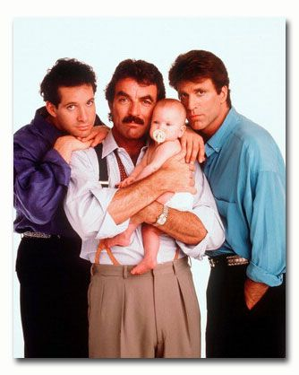 cast of three men and a baby