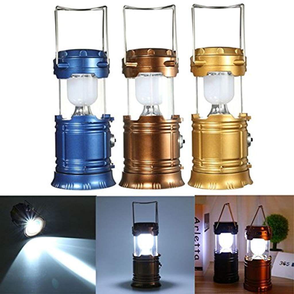 Wchaoen Solar Power Led Usb Camping Laterne Licht Zelt Wandern Taschenlampe Wiederaufladbare Lampe Led Aussenleuchte Color Blue Be Led Taschenlampe Led Lampe