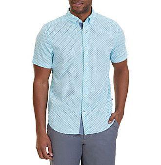 Nautica® Men's Classic Fit Printed Short Sleeve Shirt