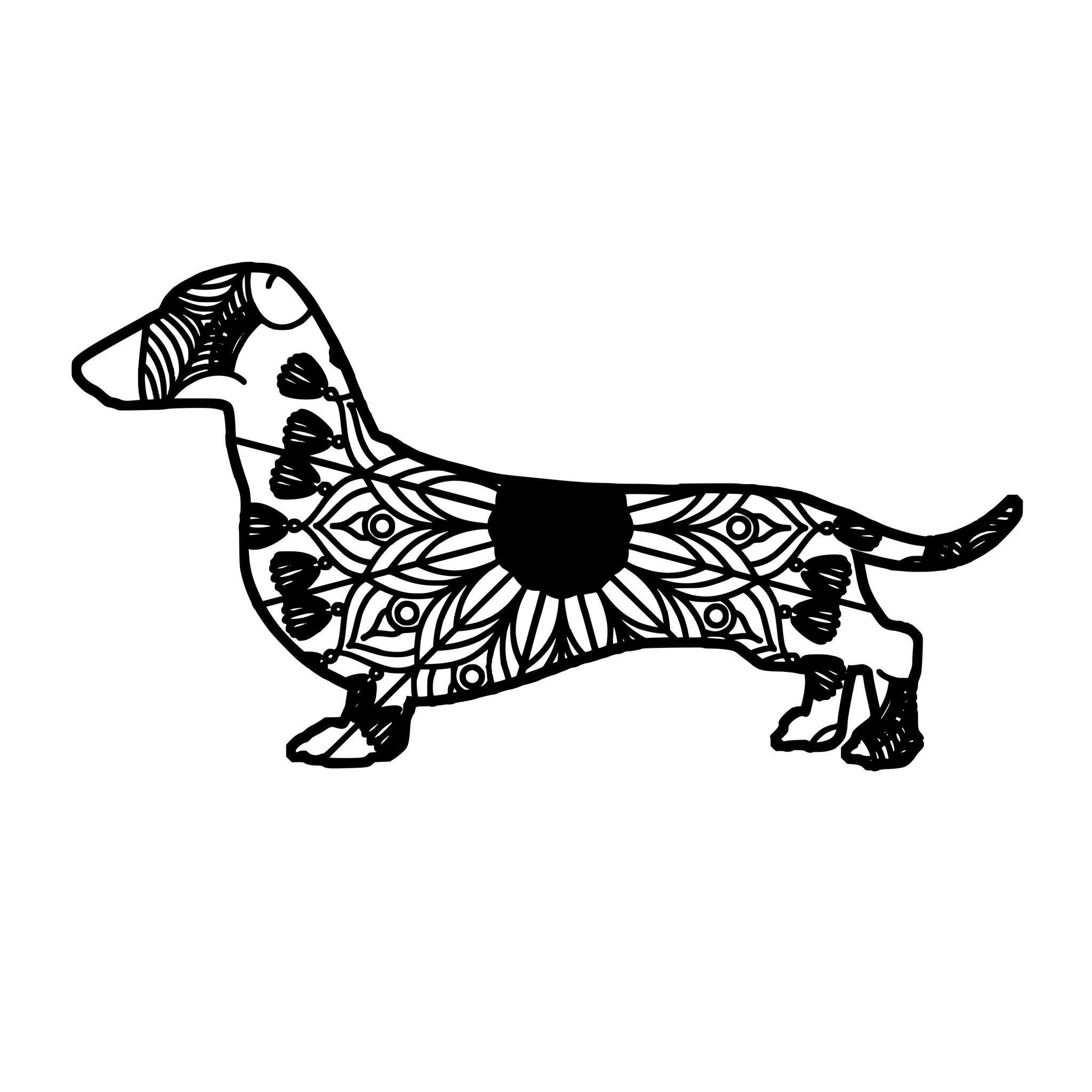Dachshund Mandala Animal Svg T Shirt Designs