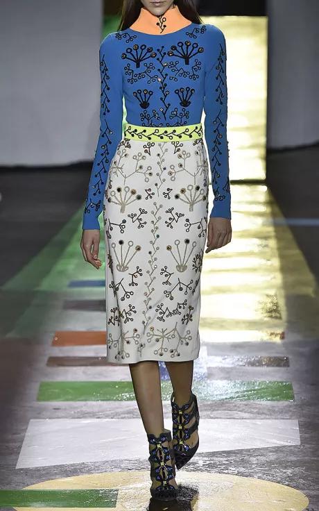 Peter Pilotto Fall/Winter 2015 Trunkshow Look 21 on Moda Operandi