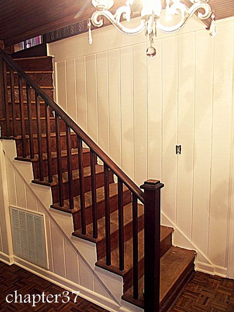 How to paint wood paneling. Make a dated room look chic instantly! |