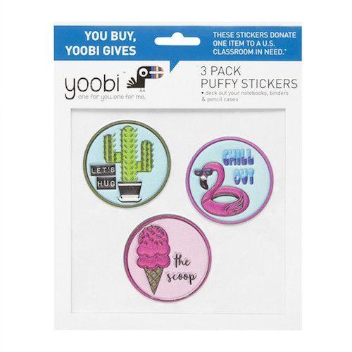 Yoobi 4 Pack Stickers