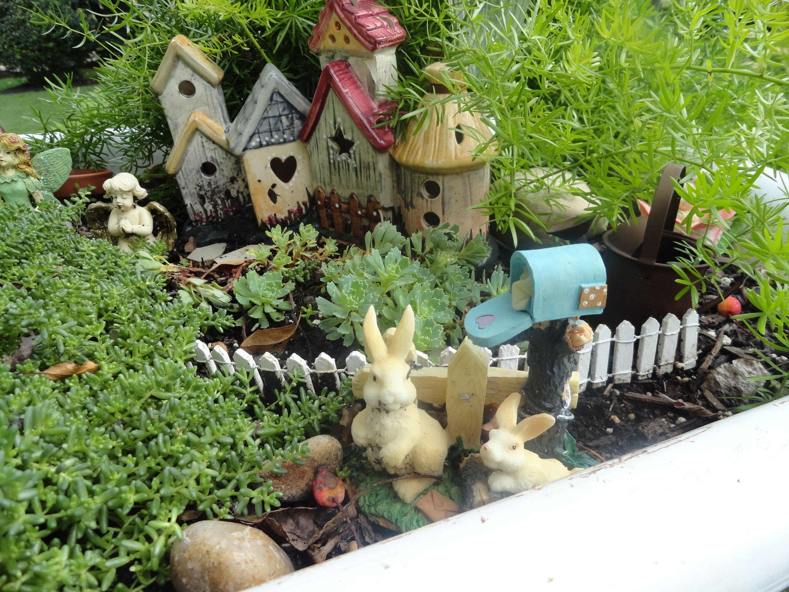 yard sale finds for in my fairy gardens