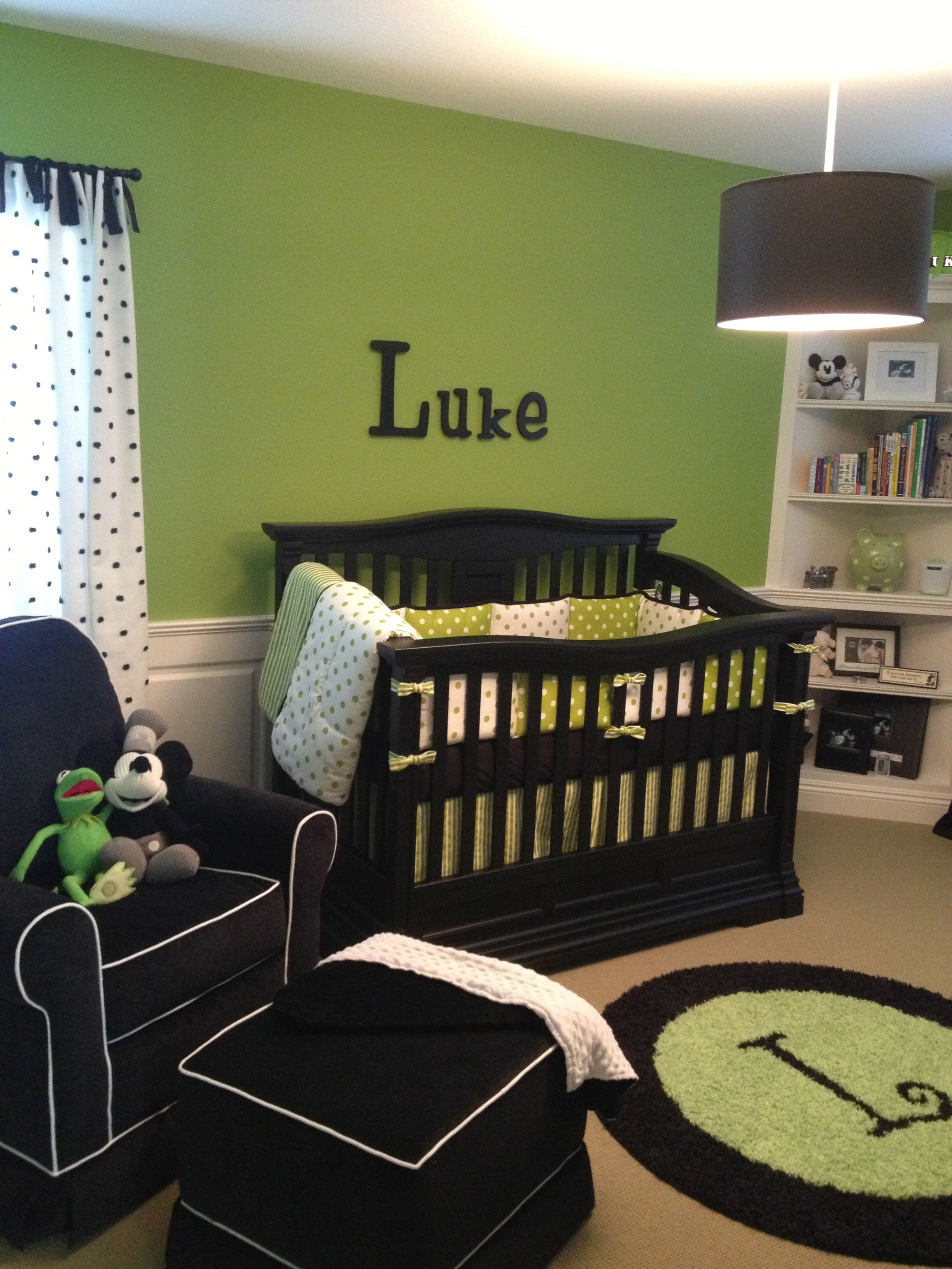 Black White Green Nursery For My Little Boy