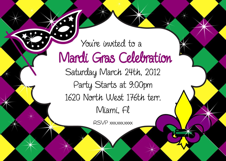 Mardi Gras Party Invitations Cloudinvitation Com Mardi Gras