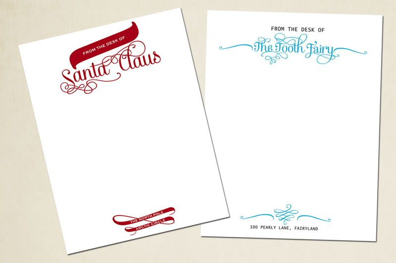 With christmas right around the corner i couldnt pass up sharing free downloadable templates from the desk of santa claus and the tooth fairy spiritdancerdesigns Images