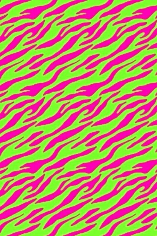 Neon Green Zebra Wallpaper