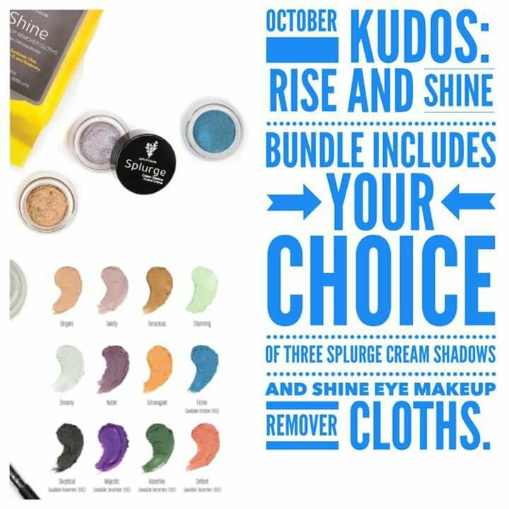 This month's Customer Kudos!! Get 3 of our amazing Splurge Cream Shadow's and our awesome Shine Cloths for £58.50! Order your's at www.youniqueproducts.com/EmmaBullard78