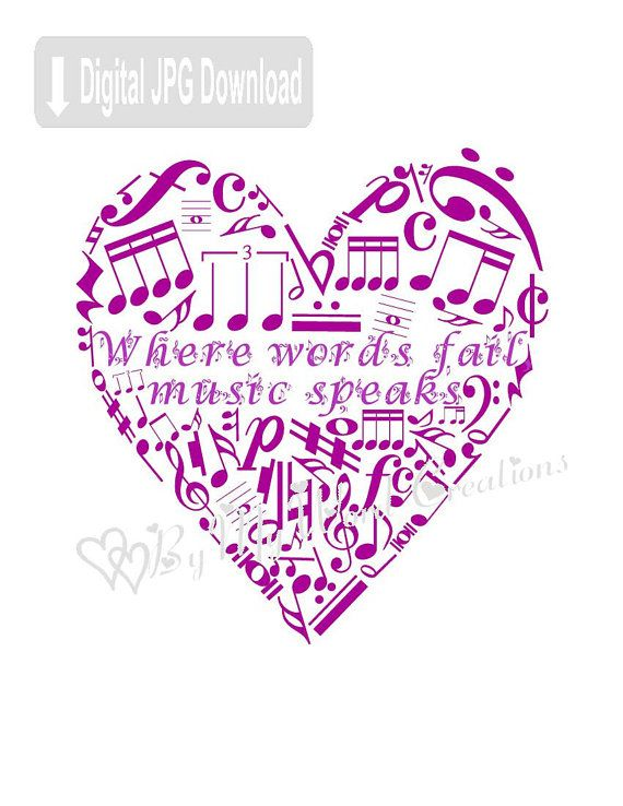 Personalized Music Quote Digital Word Art Music Wall Art