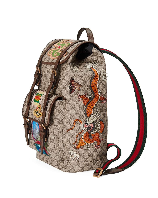 Gucci Courier Soft GG Supreme Backpack  c9121978ef2f8
