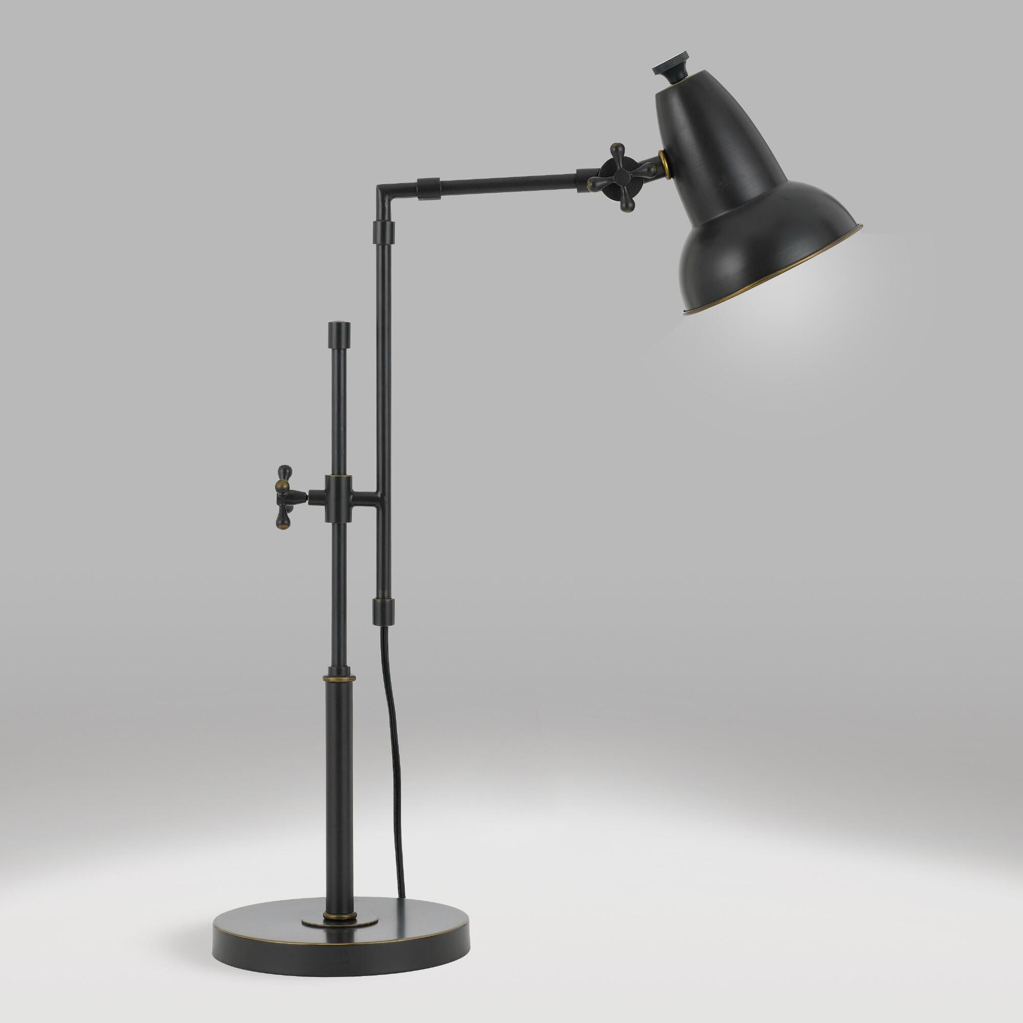 Oil Rubbed Bronze Adjustable Sable Desk Lamp By World Market Desk Lamp Lamp Best Desk Lamp