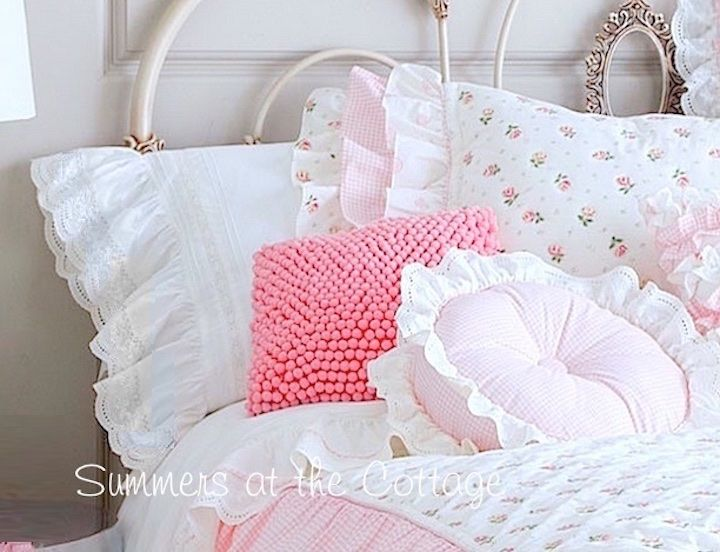 Baby Crib Bedding Pillows Eyelet Lace