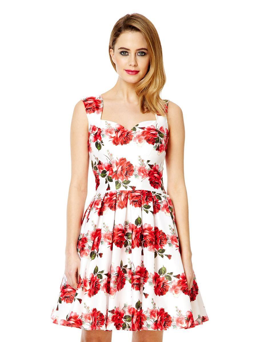 White satin rose print prom dress quiz clothing s t y l e