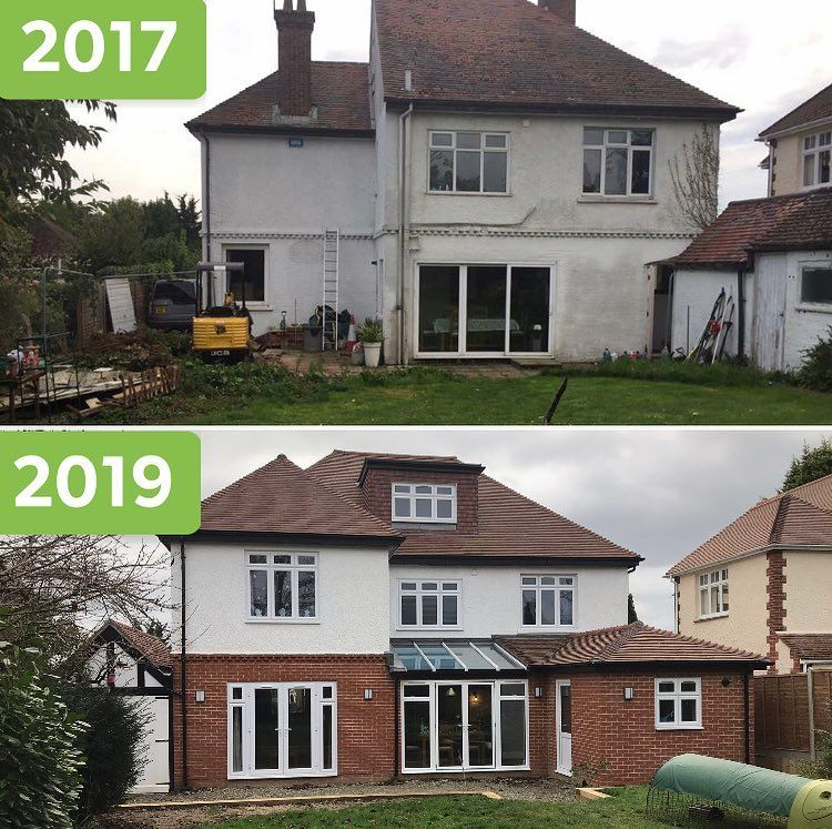 We Moved Into Our Sorry Old House 2 Years Ago It Was A Freezing January Day The House Was A State 1930s House Exterior House Designs Exterior House Exterior