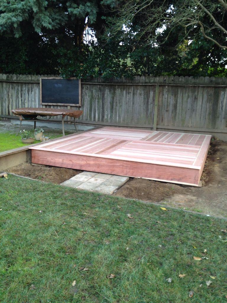Redwood Platform For Yoga Yoga Space Design Yoga Room Design Yoga Space Diy backyard yoga studio