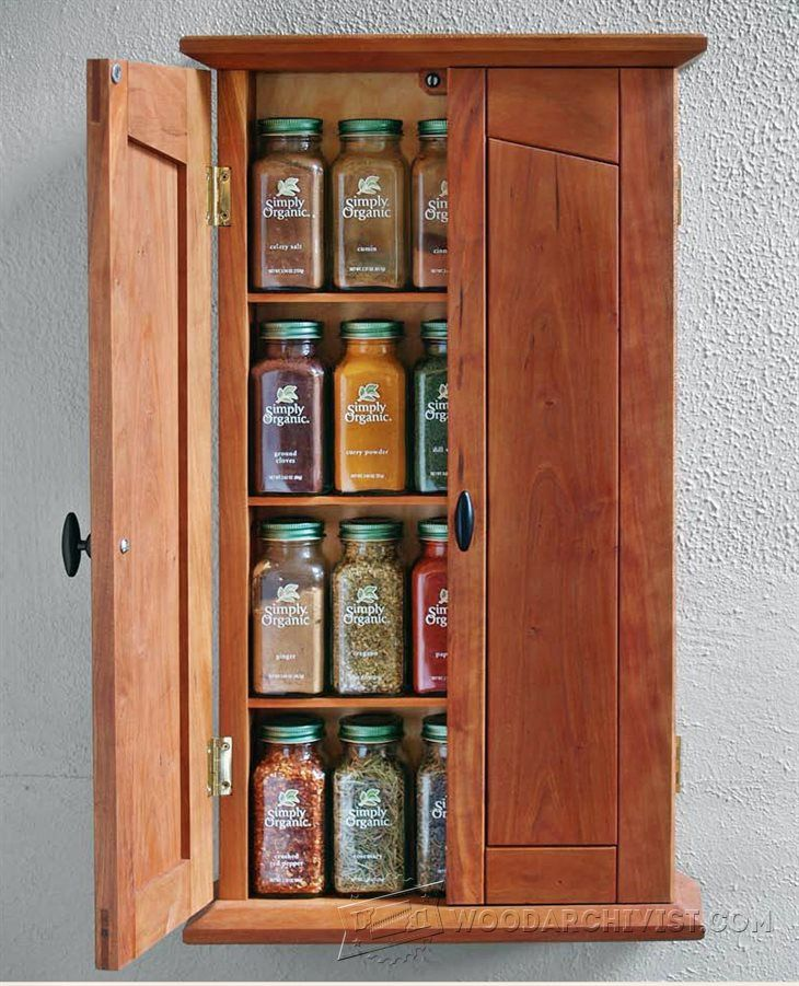 1583 Spice Plans plans, Wall cupboards