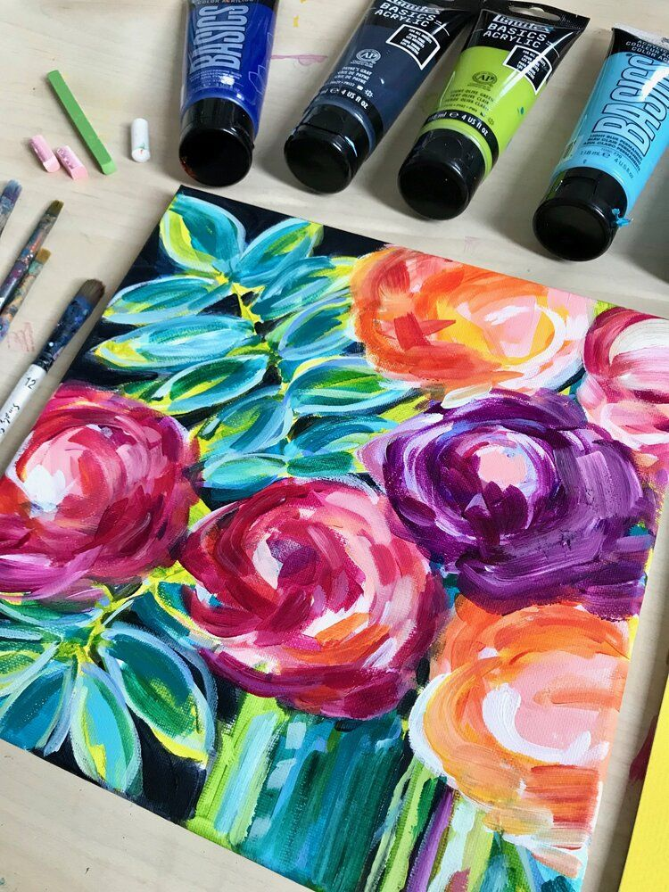 Easy flower painting ideas for beginners in 2020