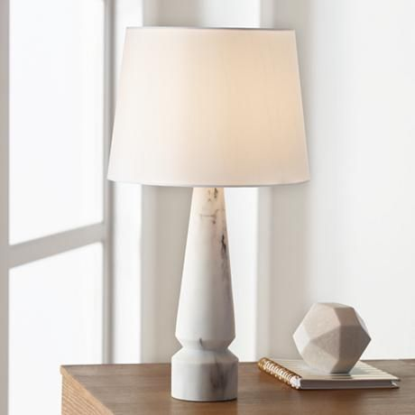 Superior Alena Faux Marble Tapered Column Table Lamp