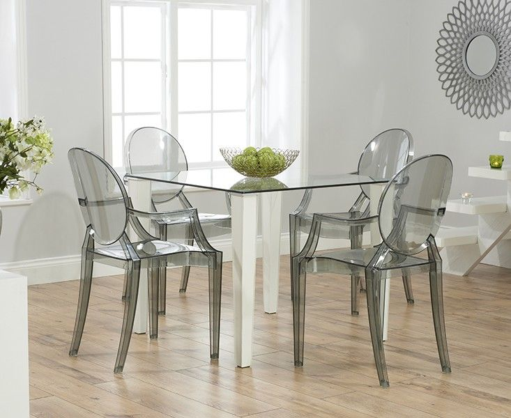White Dining Table With Ghost Chairs Google Search