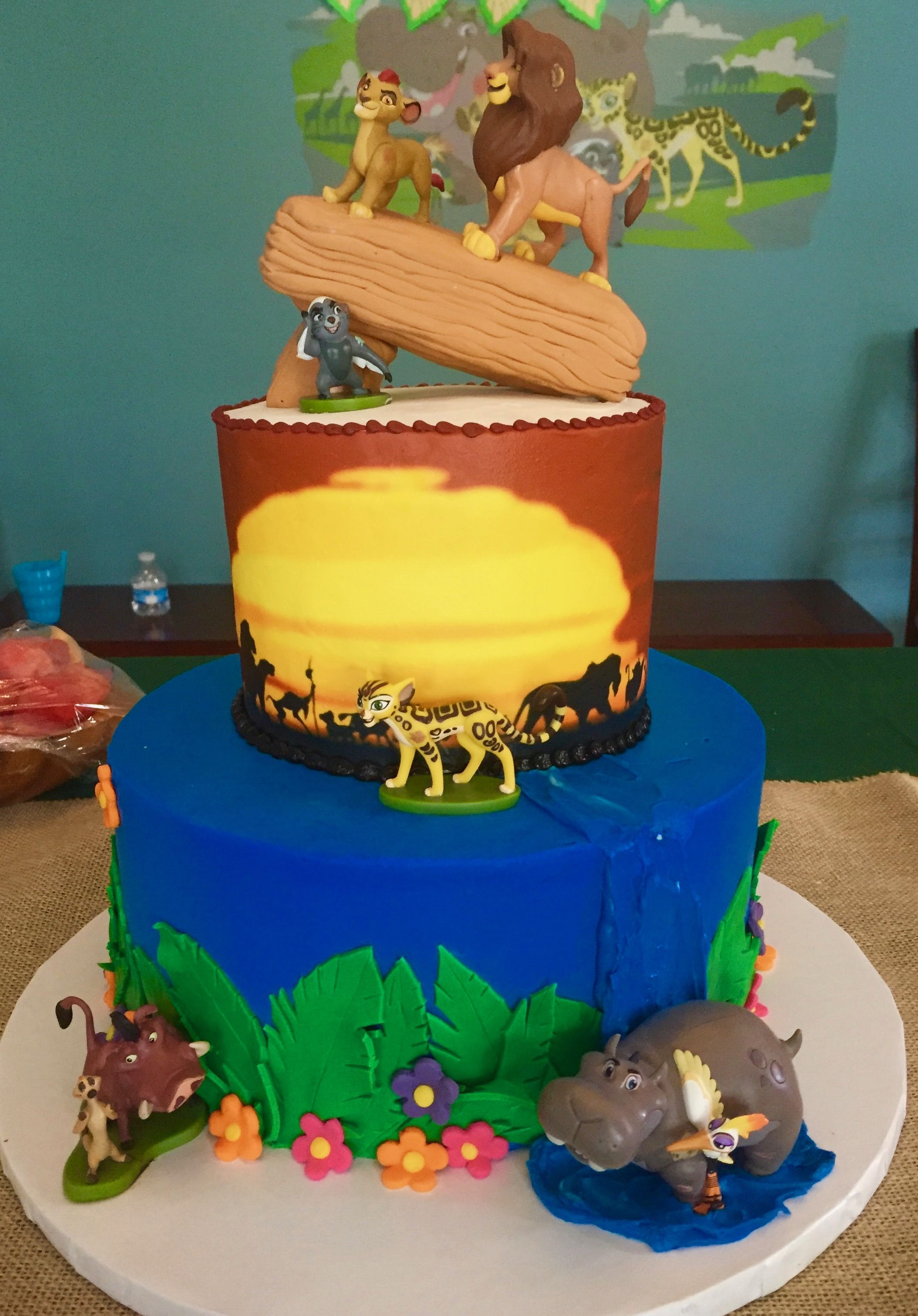 Lion Guard Birthday Cake With Images Lion King Cakes Lion