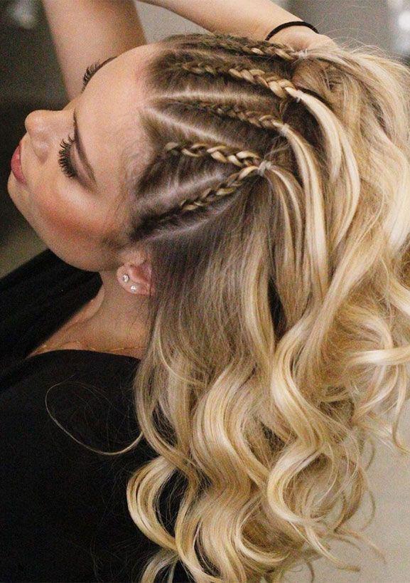 22 cute braid hairstyles - braids hair down , braided ponytail half up hairstyle...