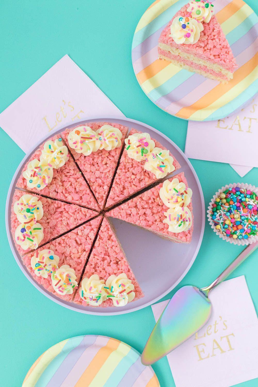 Cake Slice Rice Krispies Treats